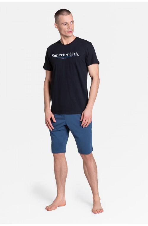 Piżama vyriški modelis Zed 38366-55X Mėlyna/pilka - Henderson