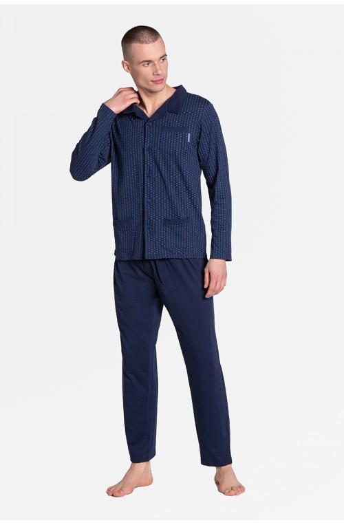 Piżama vyriški modelis Zirer 38363-59X tamsiai mėlyna - Henderson